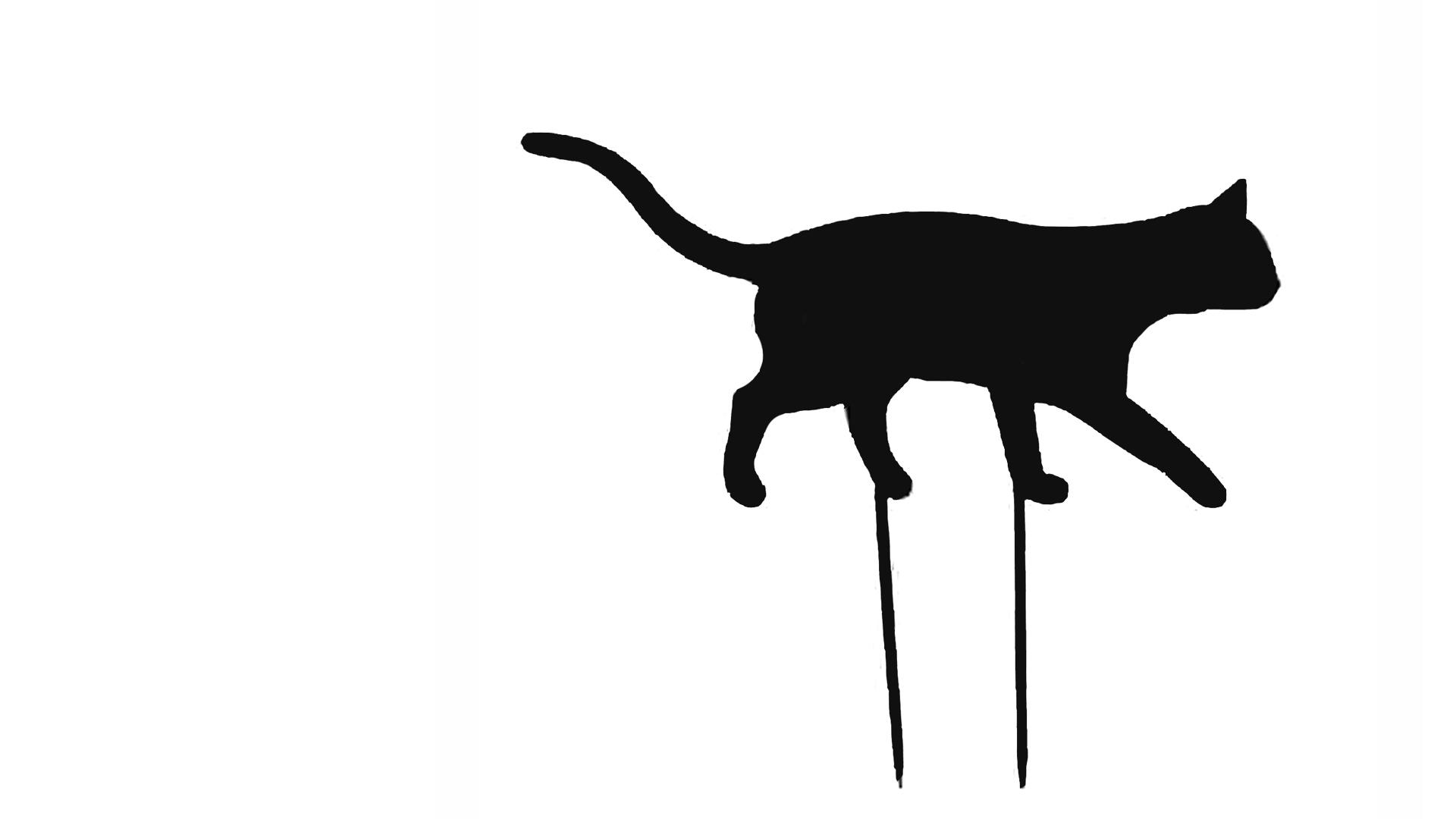 Decorative Black Cat Silhouette - Celebrity Big Brother 2017