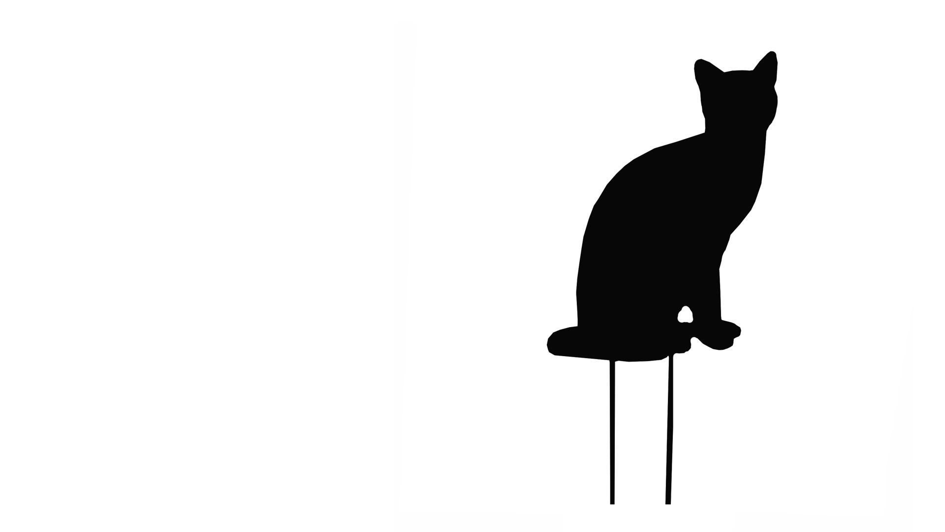 Black Sitting Cat Silhouette - Celebrity Big Brother 2017