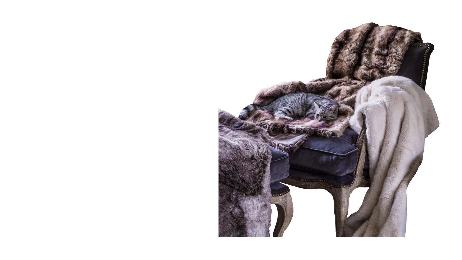 Wolf Faux Fur Throw - Celebrity Big Brother 2017