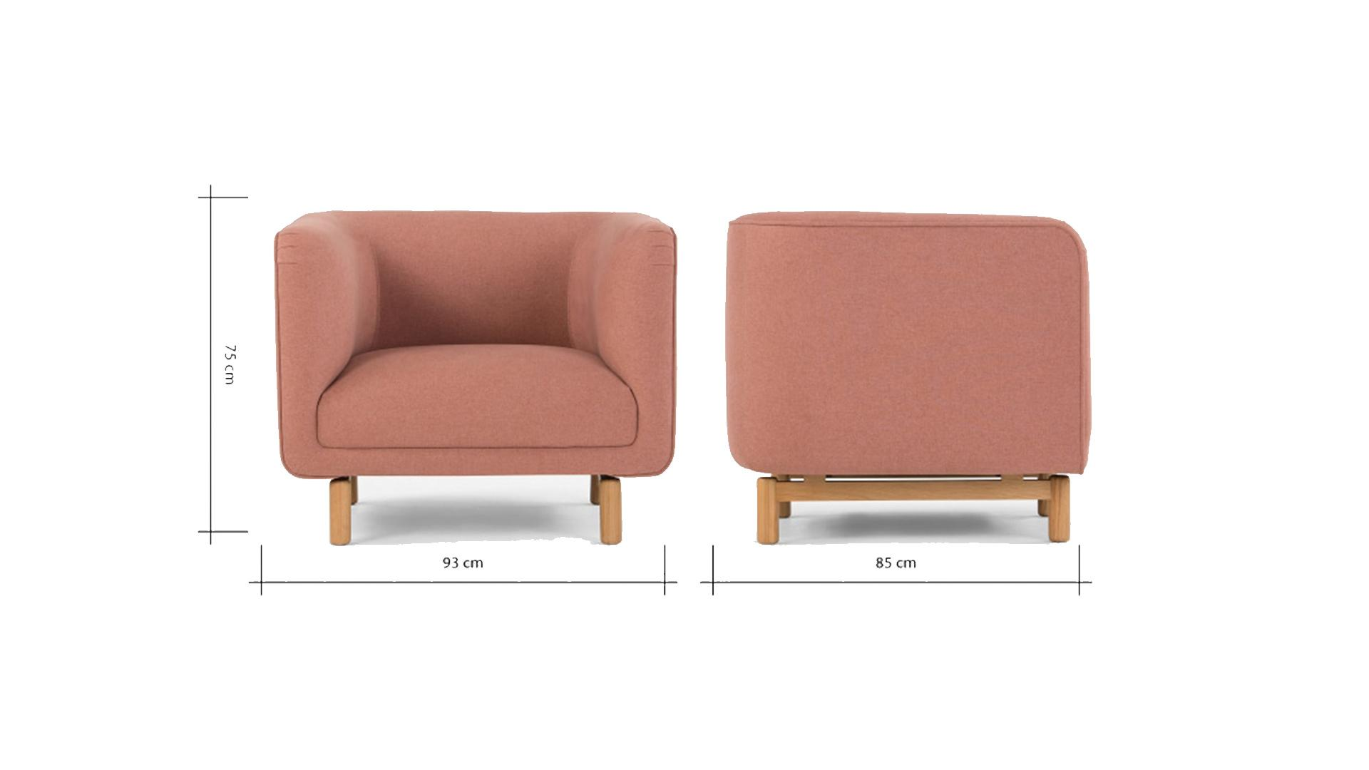 Tribeca Armchair In Dust Pink - Celebrity Big Brother 2017
