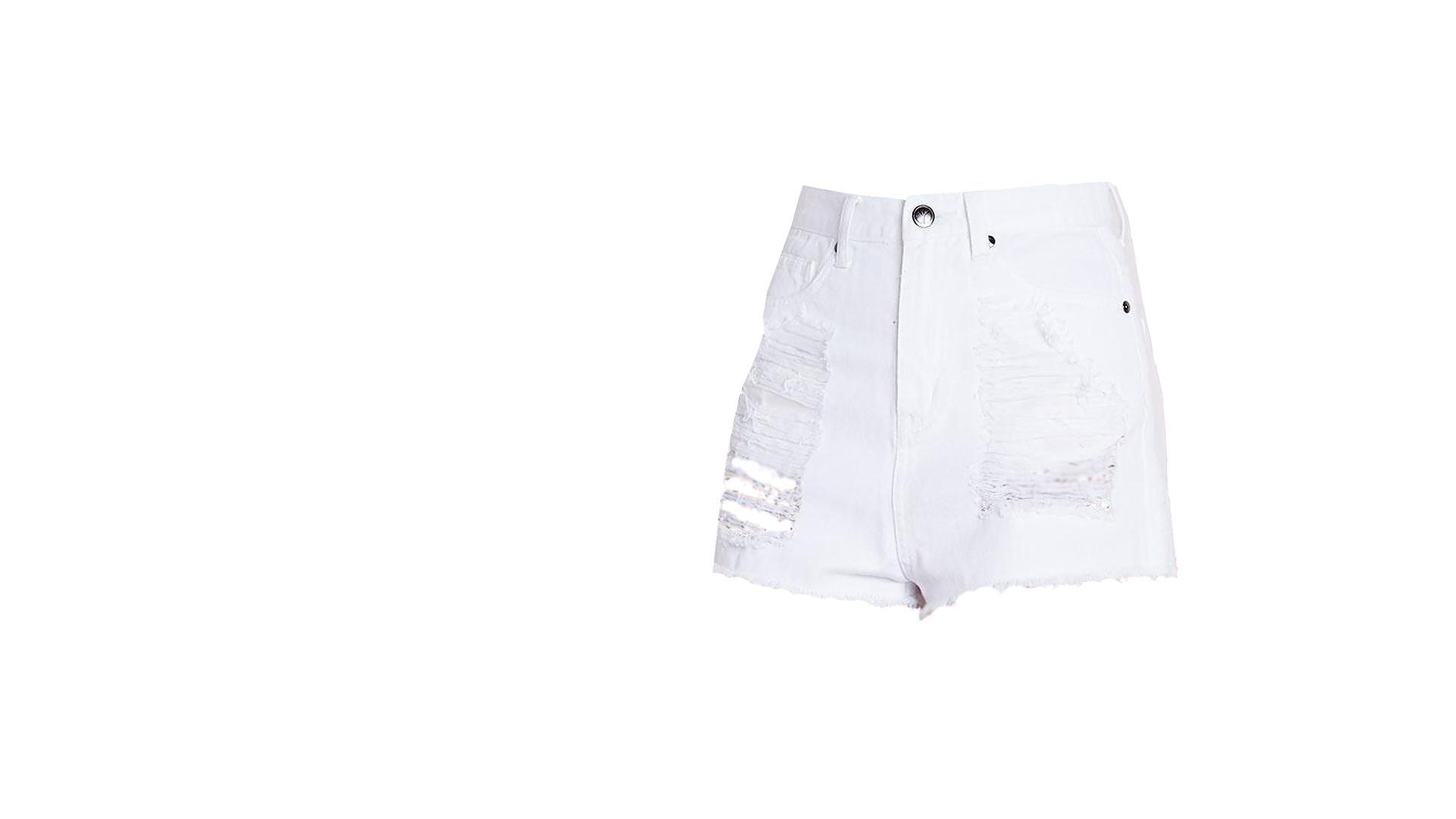Ripped Denim Shorts - Lady Leshurr - Juice