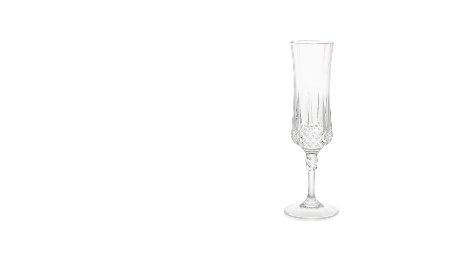 Faceted Champagne Flute - Big Brother 2017