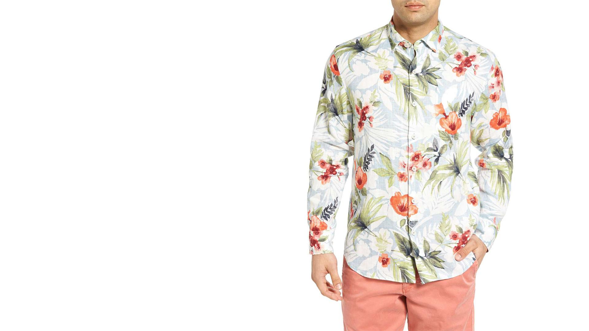 Floral Linen Shirt - Sigala, Ella Eyre - Came Here For Love