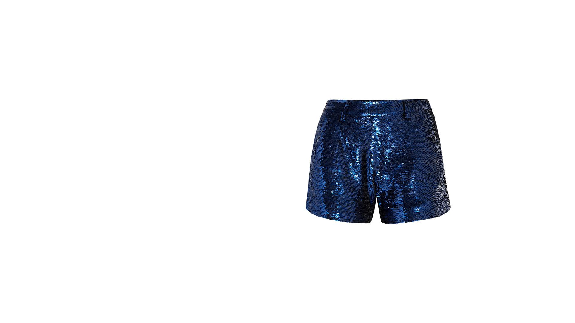 Sequined Cotton Shorts - Zara Larsson