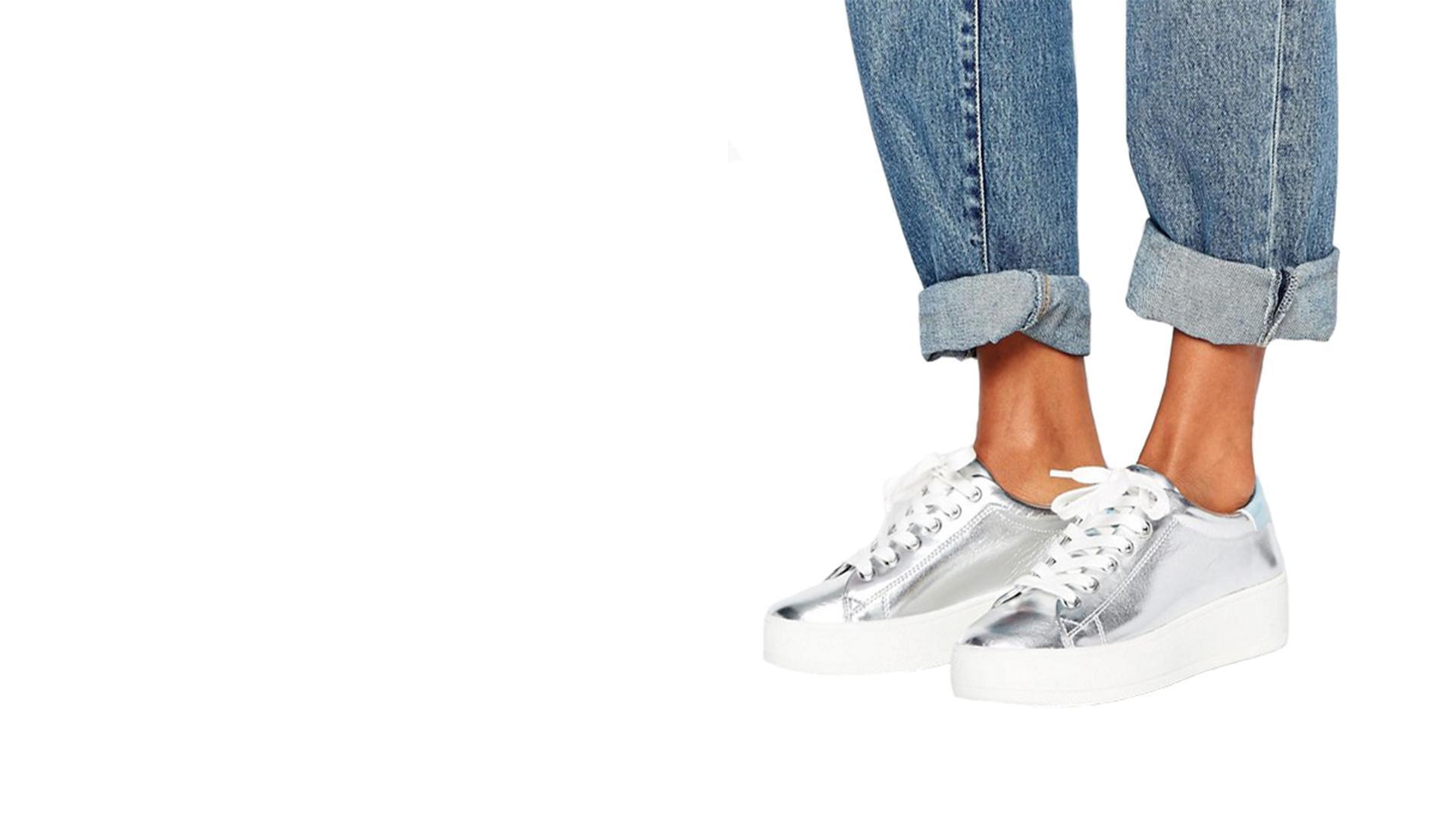 Silver Flatform Trainers - Jain - Dynabeat