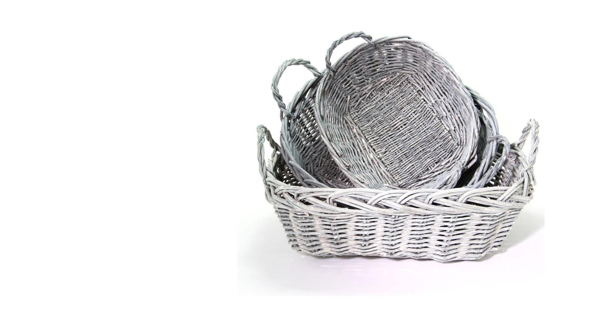 Grey Rectangular Baskets - Celebrity Big Brother Summer