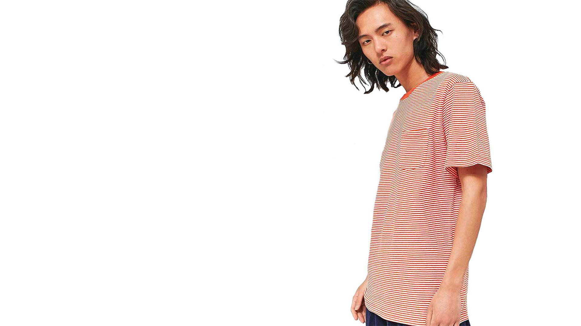 Stripe Red T-Shirt - Khalid