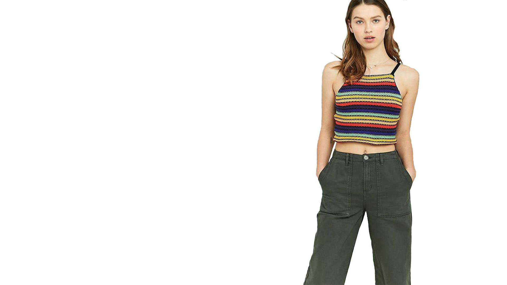 Rainbow Cropped Cami - Khalid - Young Dumb & Broke