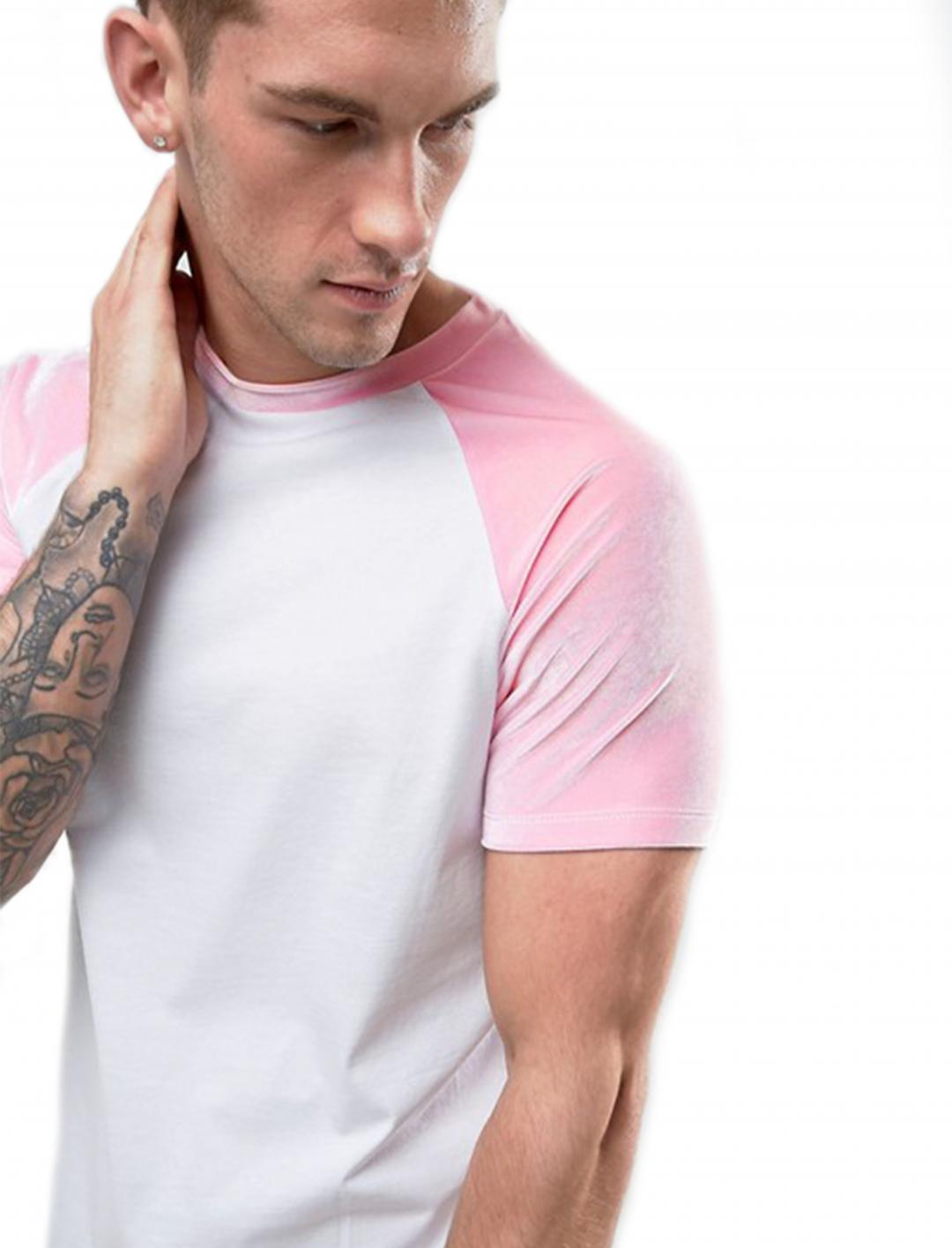 "Pink Sleeves T-Shirt {""id"":5,""product_section_id"":1,""name"":""Clothing"",""order"":5} ASOS"