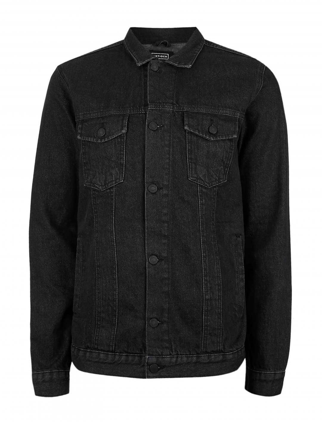 "Black Denim Jacket {""id"":5,""product_section_id"":1,""name"":""Clothing"",""order"":5} ARTIOCH"