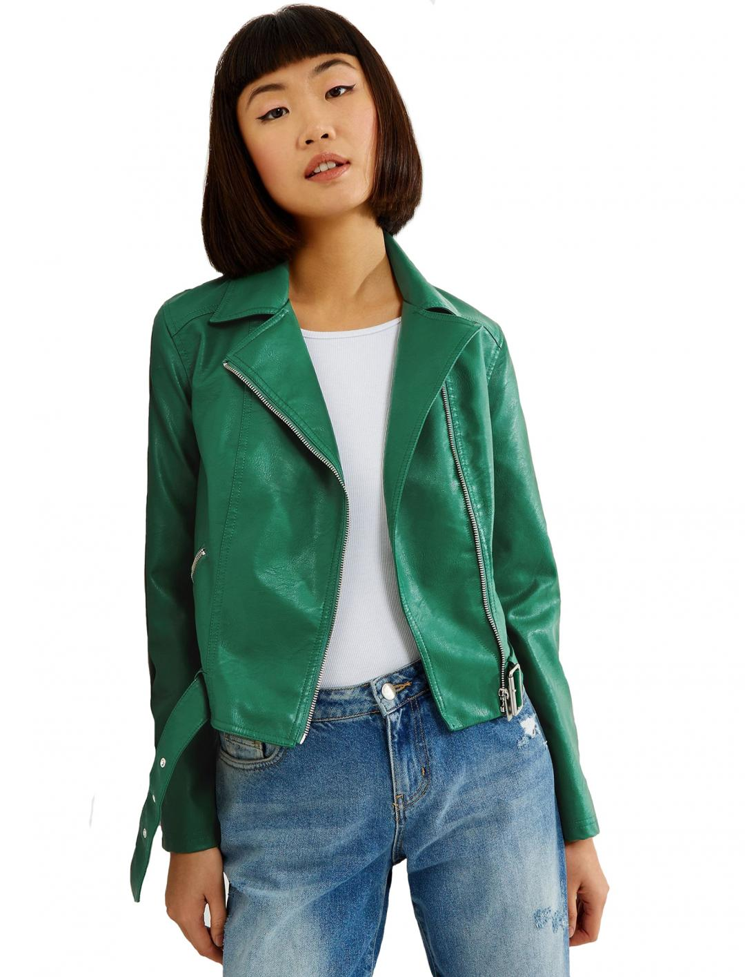 Leather Cropped Jacket Clothing New Look
