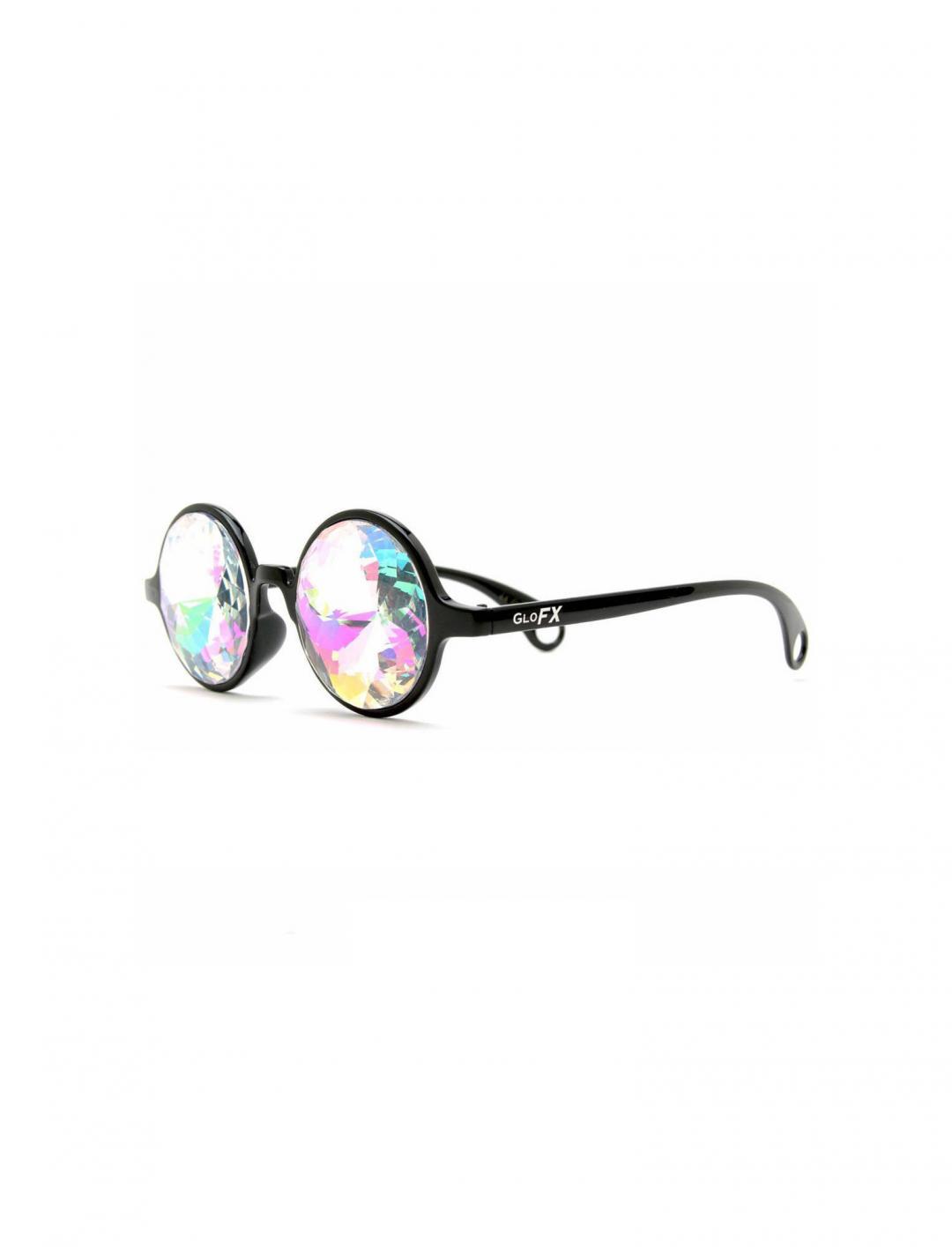 Black Kaleidoscope Glasses Accessories GloFX