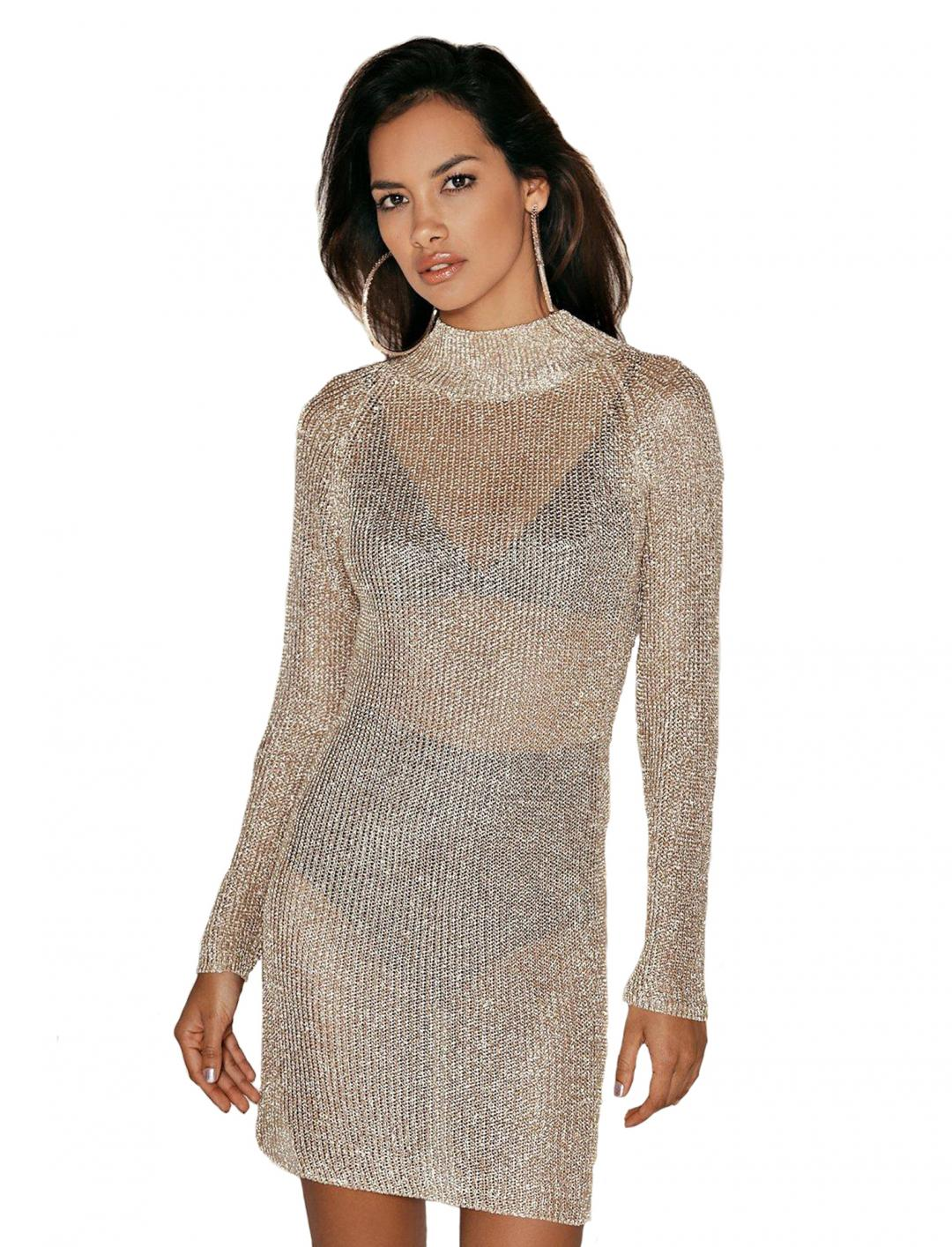 Melissa Metallic Dress Clothing Nasty Gal