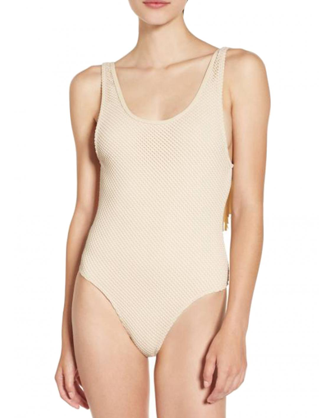 """Pink's Swimsuit with Fringe {""""id"""":5,""""product_section_id"""":1,""""name"""":""""Clothing"""",""""order"""":5} Rip Curl"""