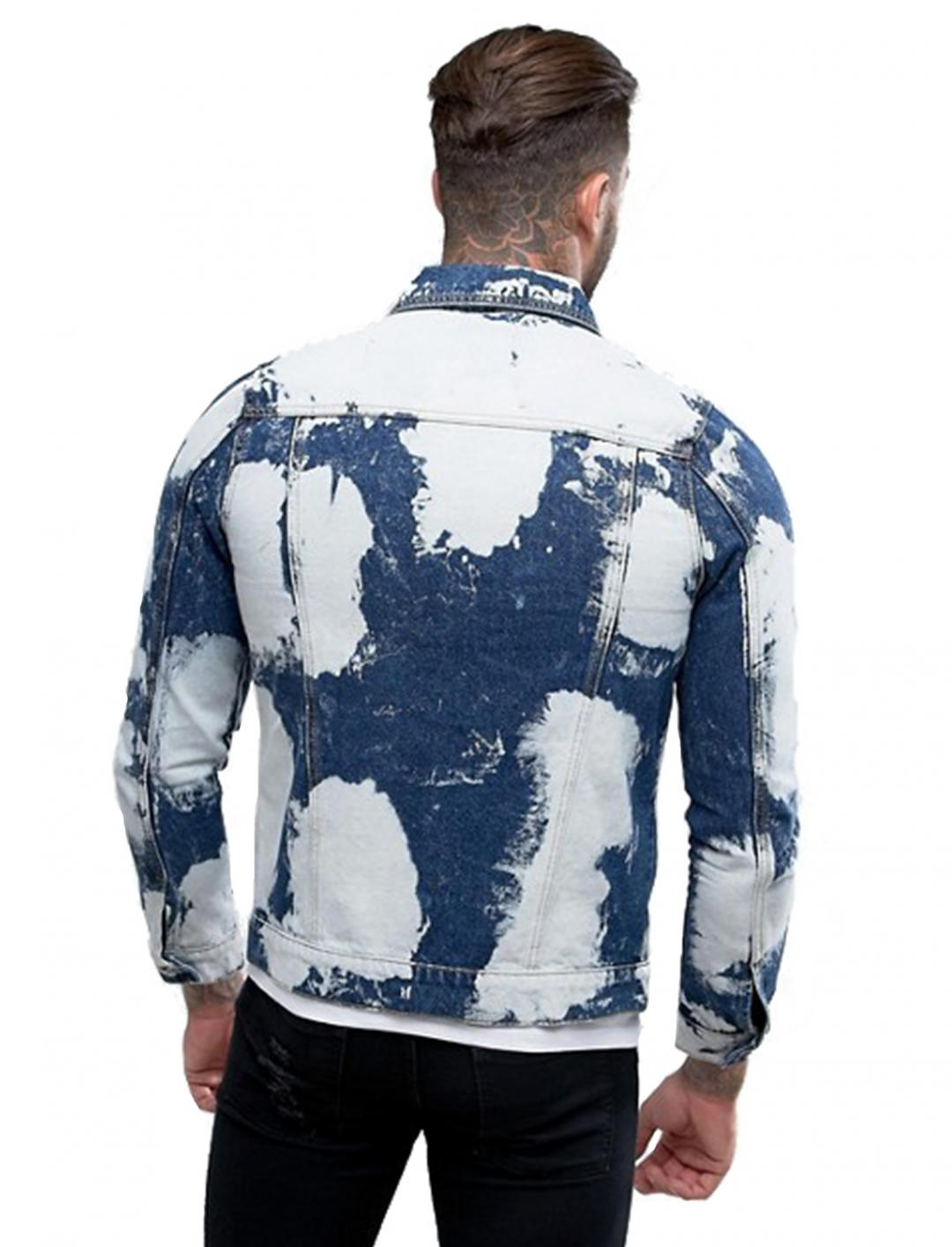 """Bleached Denim Jacket {""""id"""":5,""""product_section_id"""":1,""""name"""":""""Clothing"""",""""order"""":5} Liquor N Poker"""