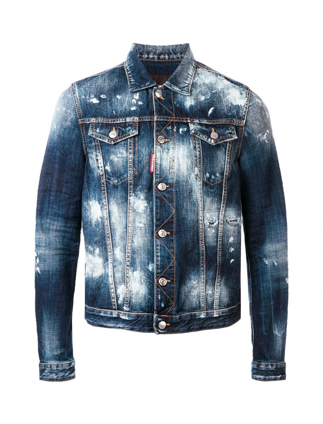 """Bleached Denim Jacket {""""id"""":5,""""product_section_id"""":1,""""name"""":""""Clothing"""",""""order"""":5} DSQUARED2"""