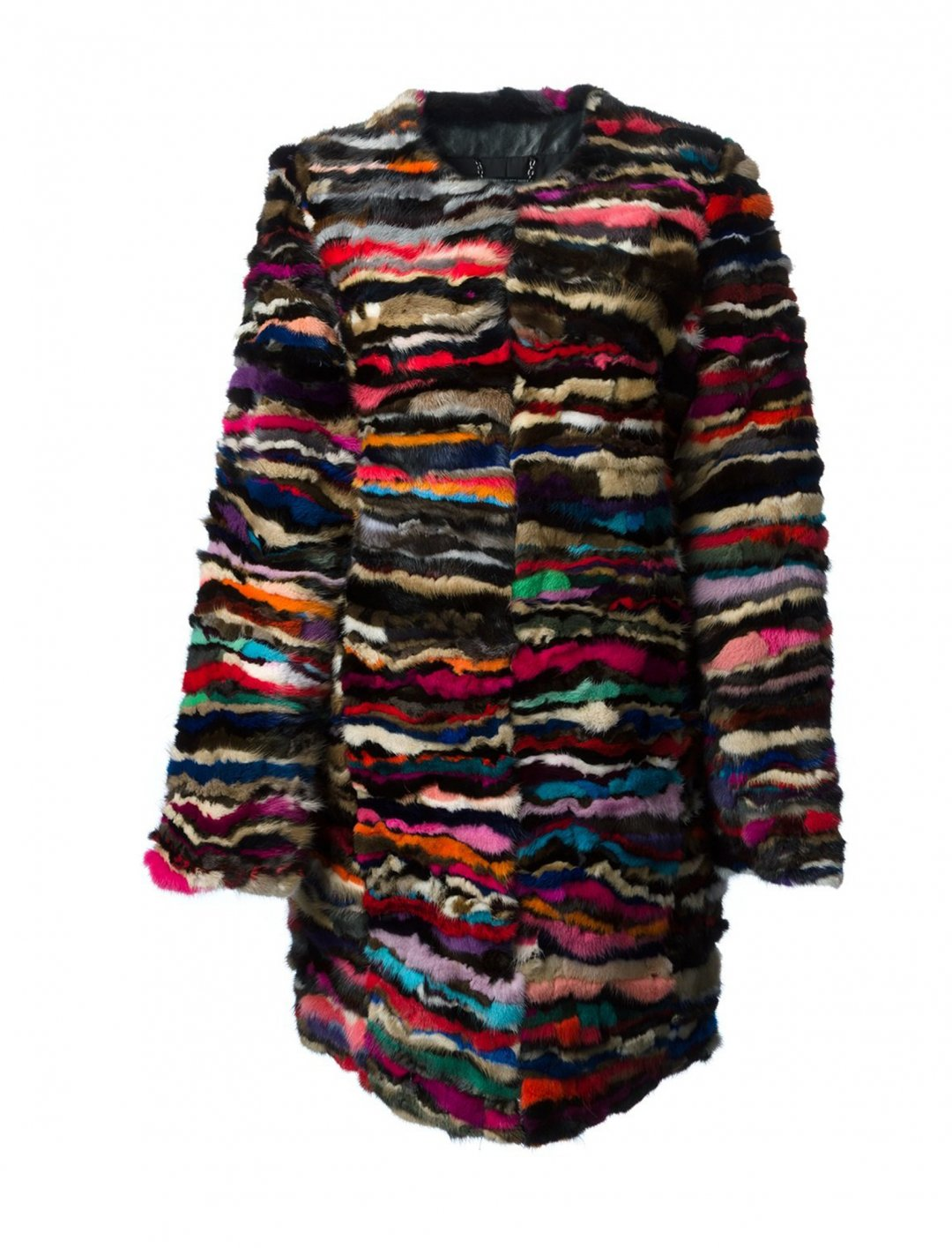 """Multicolor Fur Coat {""""id"""":5,""""product_section_id"""":1,""""name"""":""""Clothing"""",""""order"""":5} Diane Von Furstenberg"""