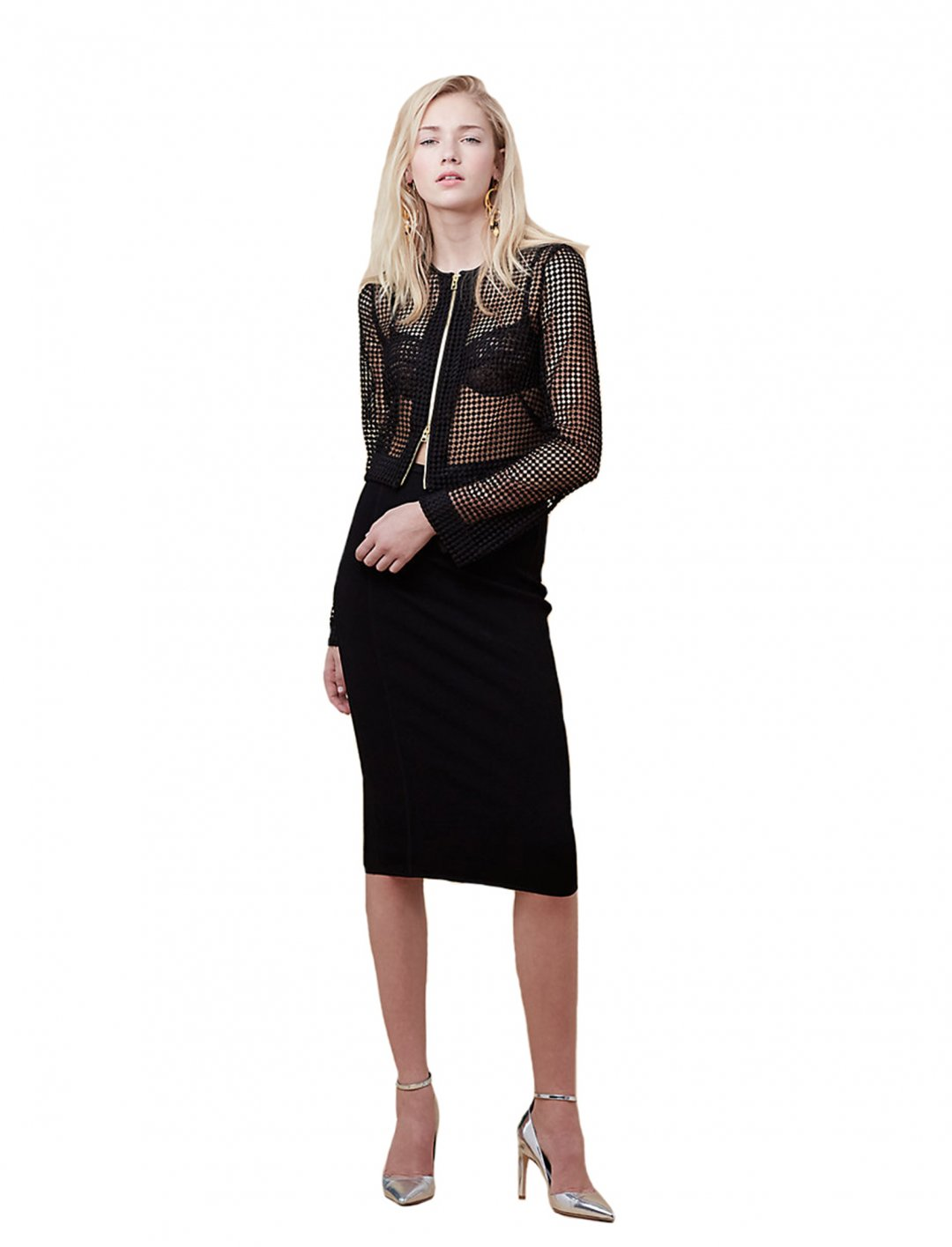 """Chain Lace Jacket {""""id"""":5,""""product_section_id"""":1,""""name"""":""""Clothing"""",""""order"""":5} DVF"""