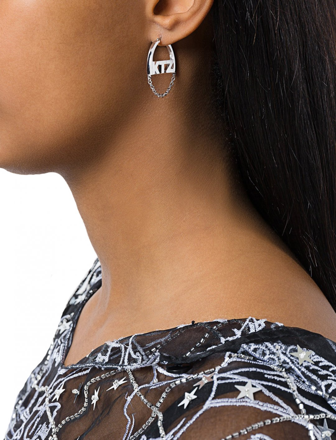 """Small Chain Earrings {""""id"""":10,""""product_section_id"""":1,""""name"""":""""Jewellery"""",""""order"""":10} KTZ"""