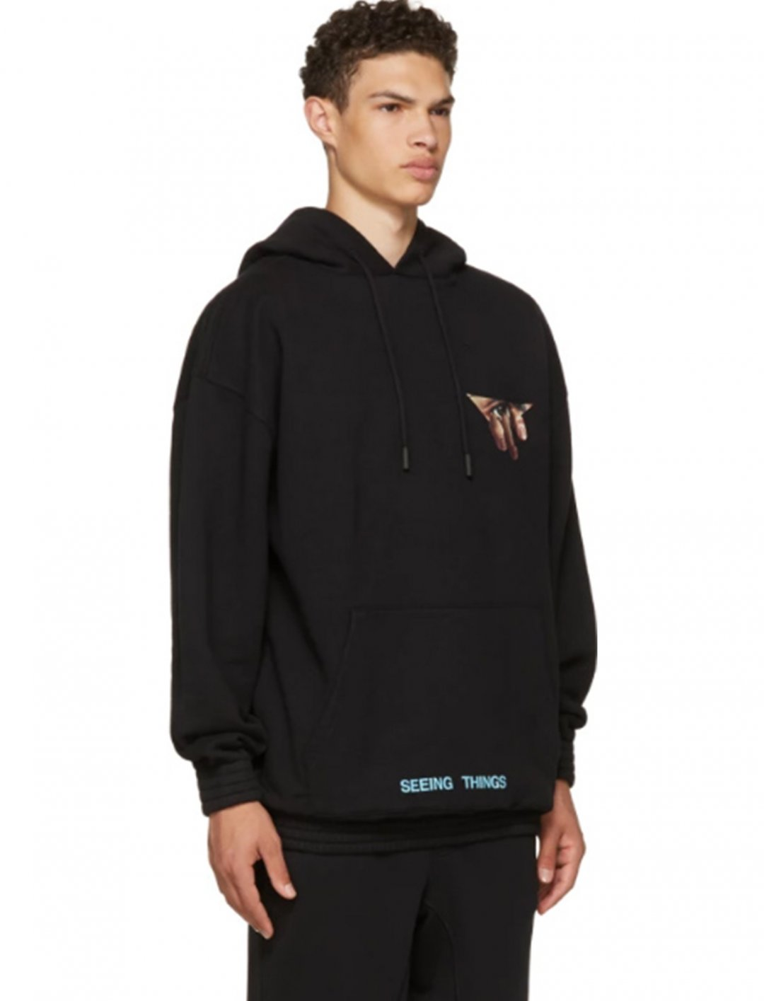 """Pink's Eyes Over Hoodie {""""id"""":5,""""product_section_id"""":1,""""name"""":""""Clothing"""",""""order"""":5} Off-White"""