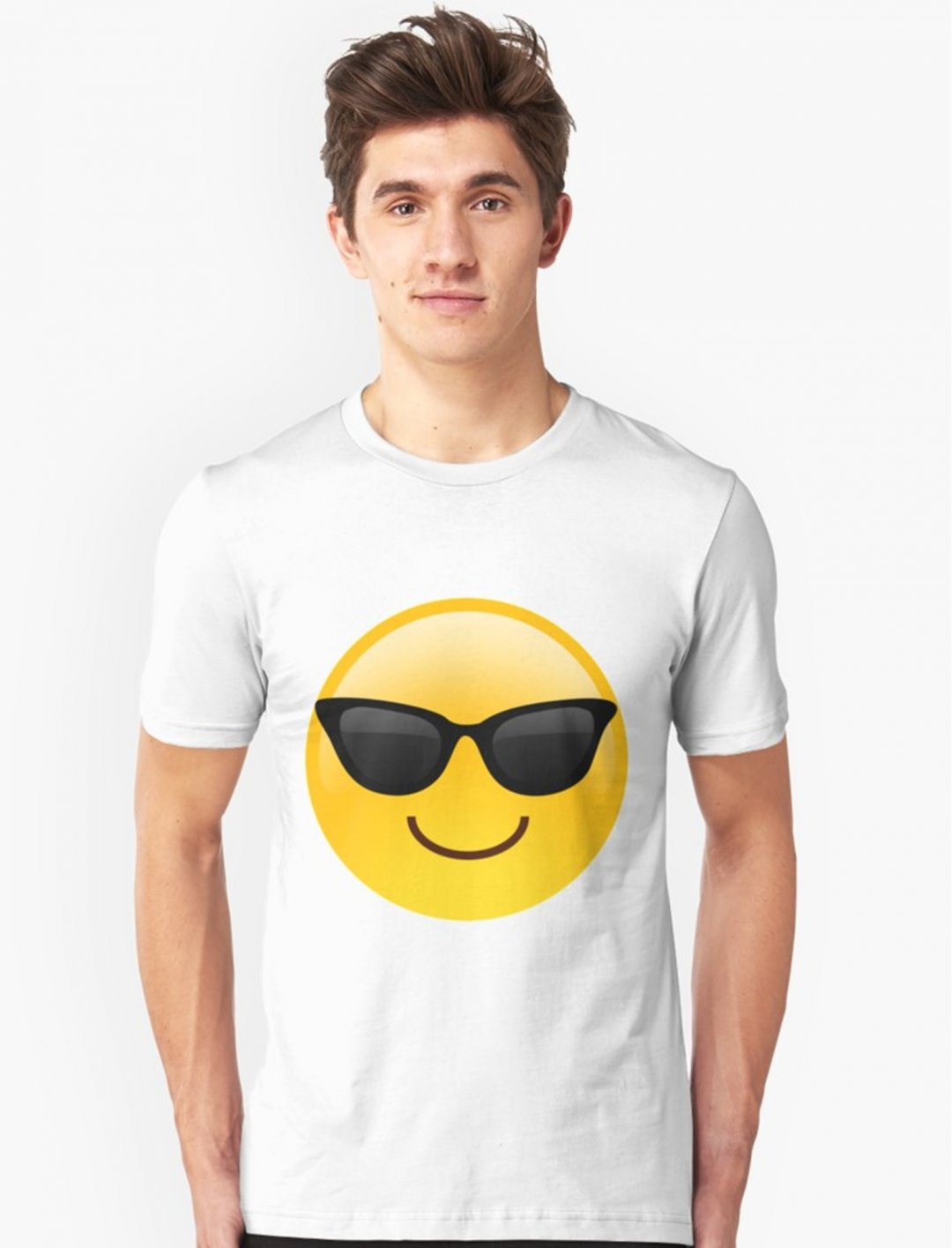 """Cool Emoji T-Shirt {""""id"""":5,""""product_section_id"""":1,""""name"""":""""Clothing"""",""""order"""":5} RedBubble"""