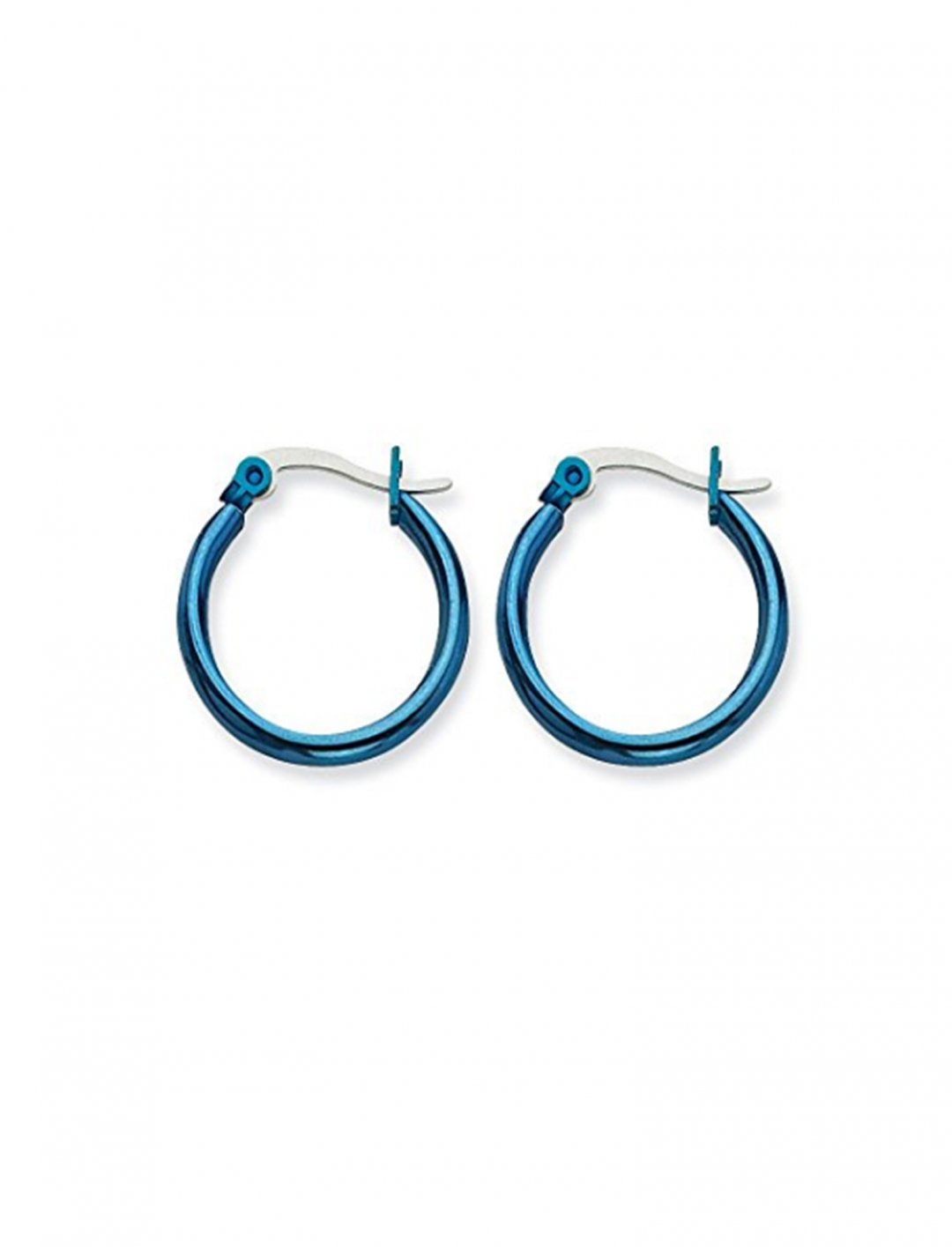 "Blue Hoop Earrings {""id"":10,""product_section_id"":1,""name"":""Jewellery"",""order"":10} IceCarats"