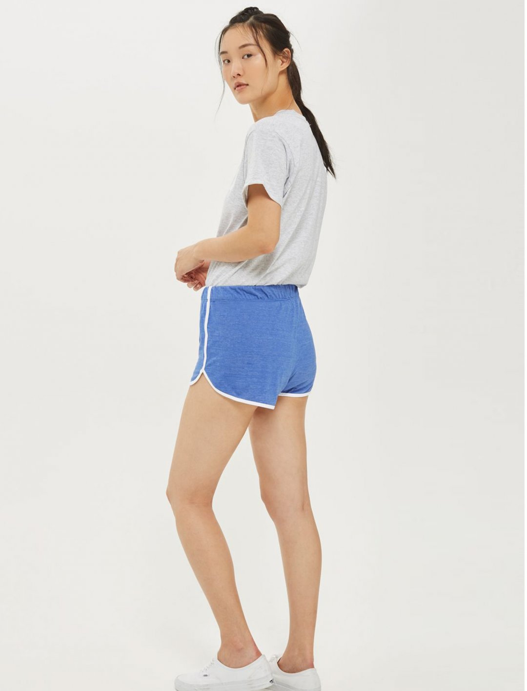 "Rachel's  Blue Runner Shorts {""id"":5,""product_section_id"":1,""name"":""Clothing"",""order"":5} Top Shop"