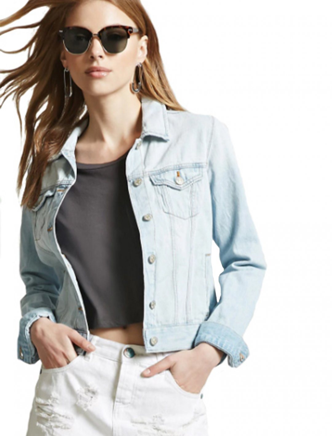 "Classic Denim Jacket {""id"":5,""product_section_id"":1,""name"":""Clothing"",""order"":5} Forever21"