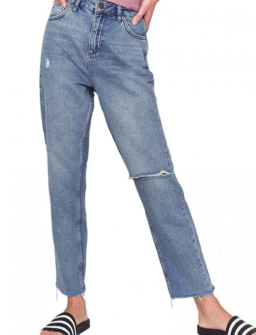 "Mom Cheeky Distressed Jeans {""id"":5,""product_section_id"":1,""name"":""Clothing"",""order"":5} Urban Outfitters"