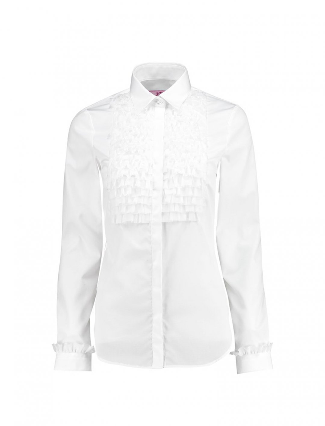 "Shirt With Frill Detail {""id"":5,""product_section_id"":1,""name"":""Clothing"",""order"":5} Hawes & Curtis"