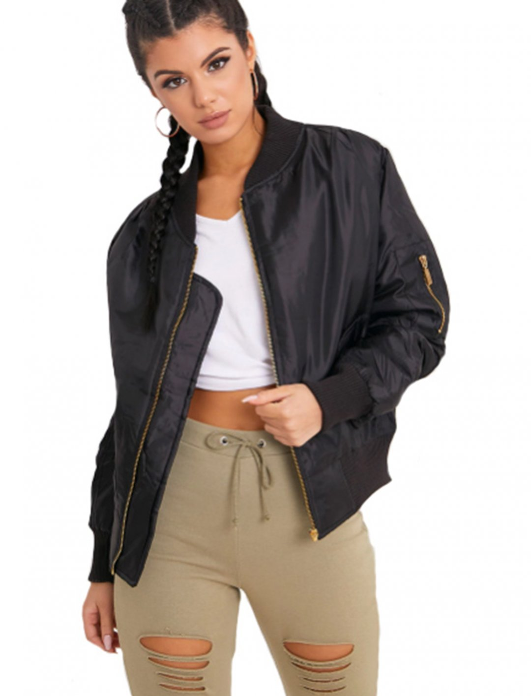 Black Bomber Jacket Clothing Prettylittlethings