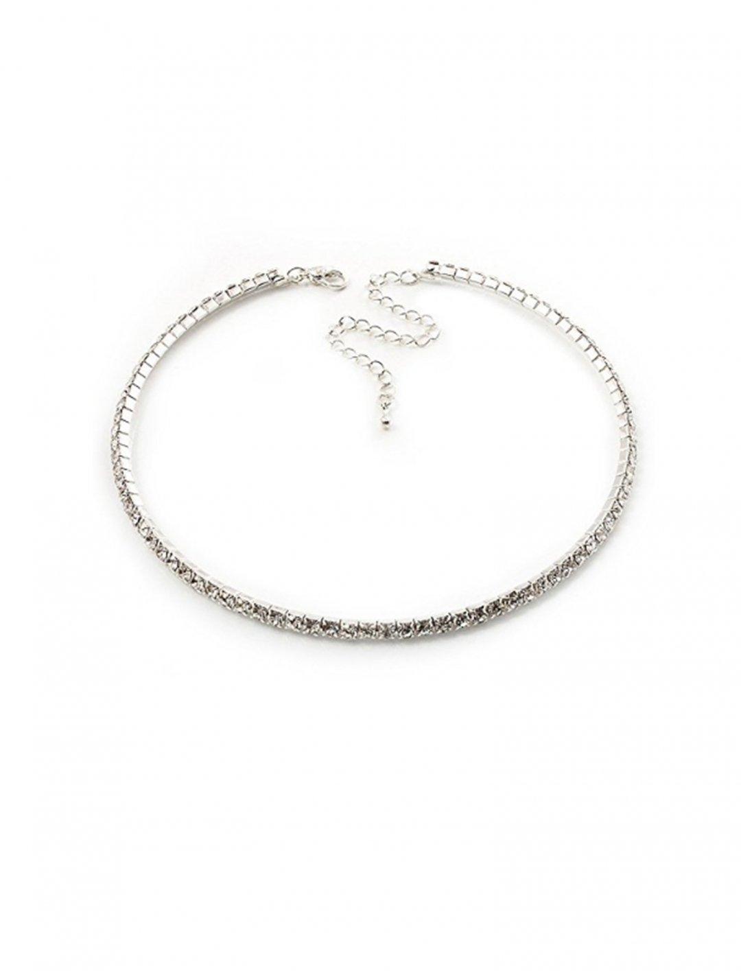 Crystal Choker Necklace Jewellery Avalaya