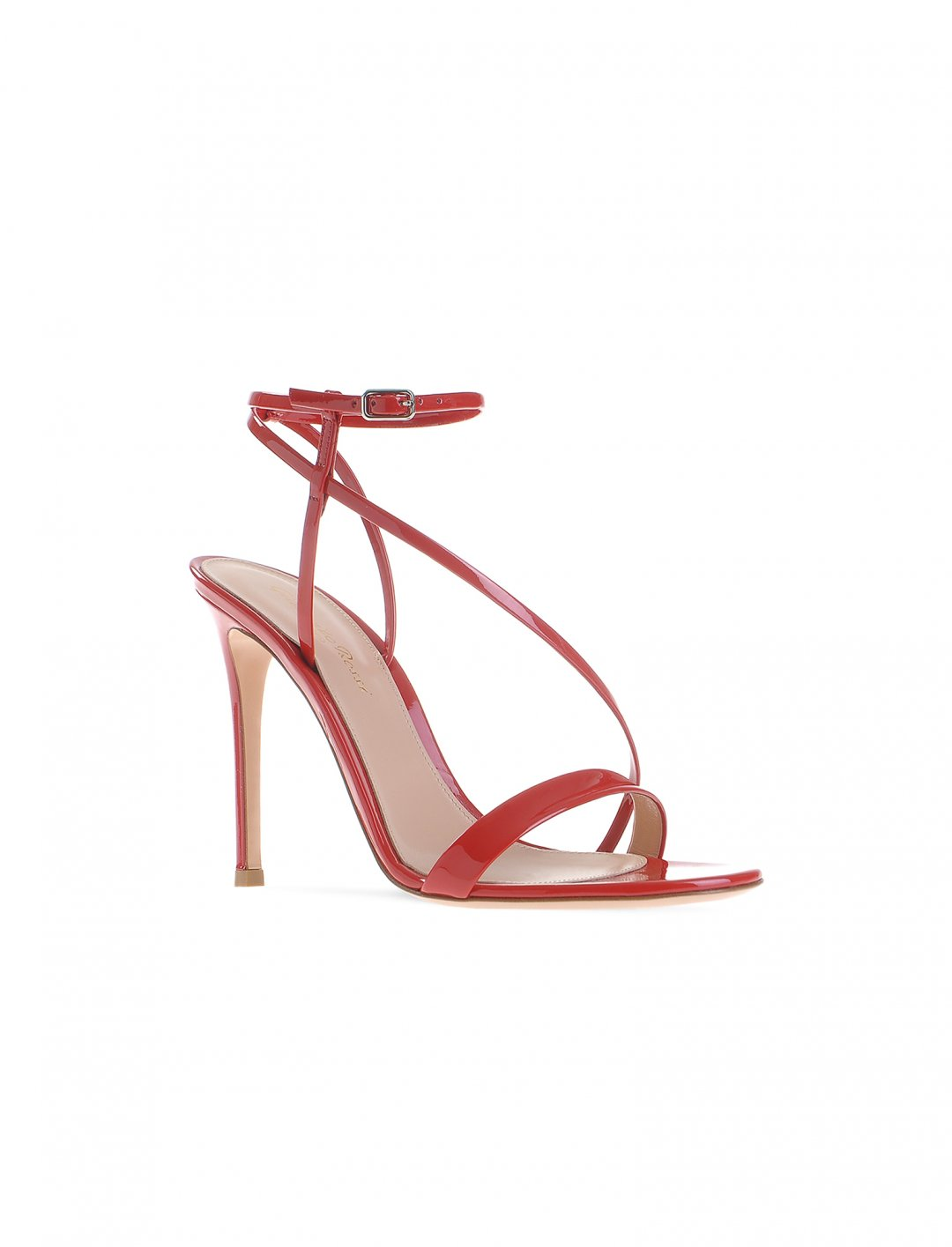 "Camila's Red Strappy Sandals {""id"":12,""product_section_id"":1,""name"":""Shoes"",""order"":12} Gianvito Rossi"