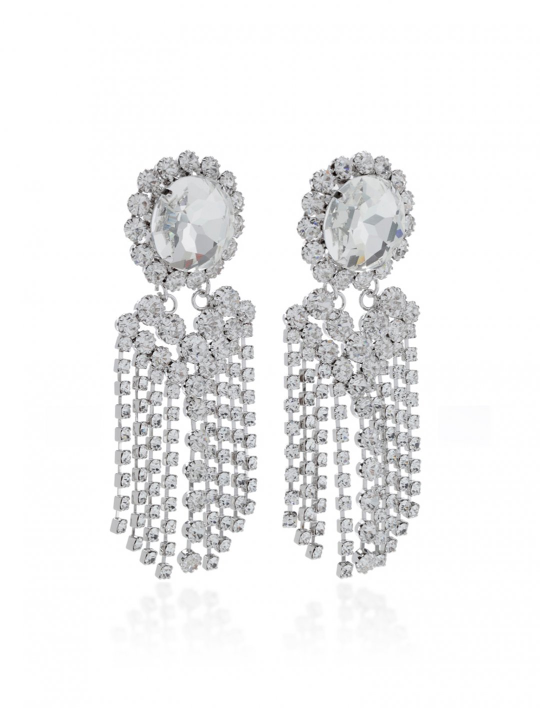 "Camila's Crystal Fringe Earring {""id"":10,""product_section_id"":1,""name"":""Jewellery"",""order"":10} Alessandra Rich"