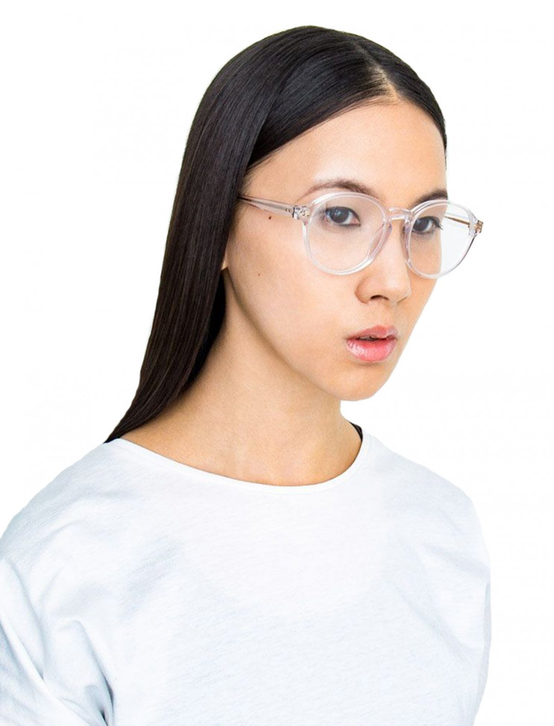 "Camila's Oval Frame Glasses {""id"":16,""product_section_id"":1,""name"":""Accessories"",""order"":15} Linda Farrow"