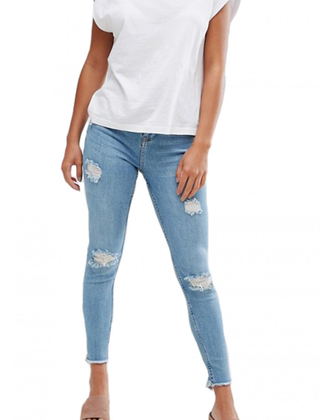 "Distressed Hem Jeans {""id"":5,""product_section_id"":1,""name"":""Clothing"",""order"":5} New Look"