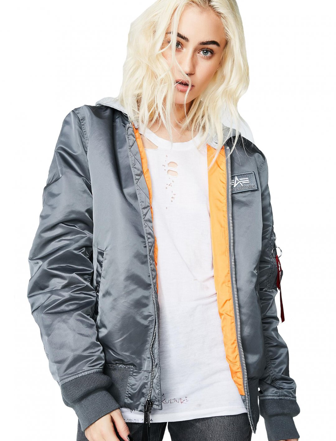 """L-2B Hooded Bomber Jacket {""""id"""":5,""""product_section_id"""":1,""""name"""":""""Clothing"""",""""order"""":5} Alpha Industries"""