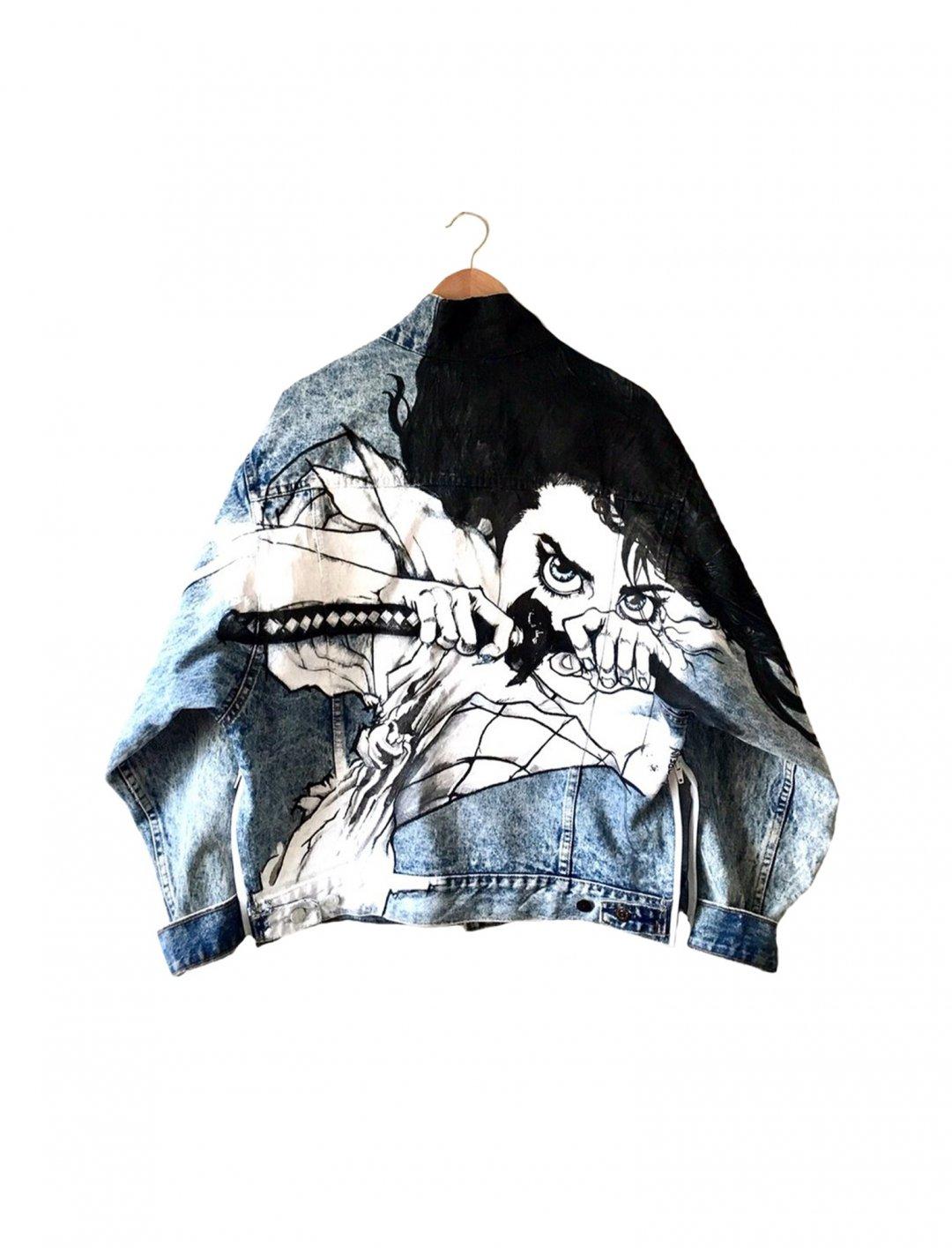 "Yumi-Yoshizawa Denim Jacket {""id"":5,""product_section_id"":1,""name"":""Clothing"",""order"":5} Duppysquadron"
