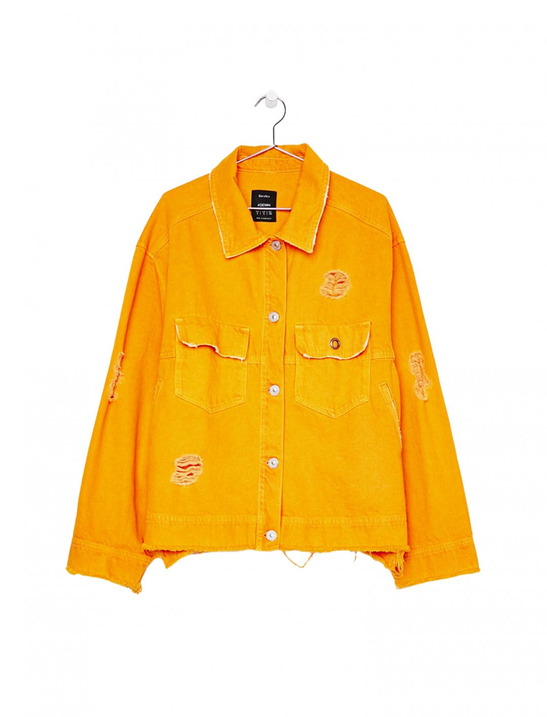 """Oversized Denim Jacket {""""id"""":5,""""product_section_id"""":1,""""name"""":""""Clothing"""",""""order"""":5} Bershka"""