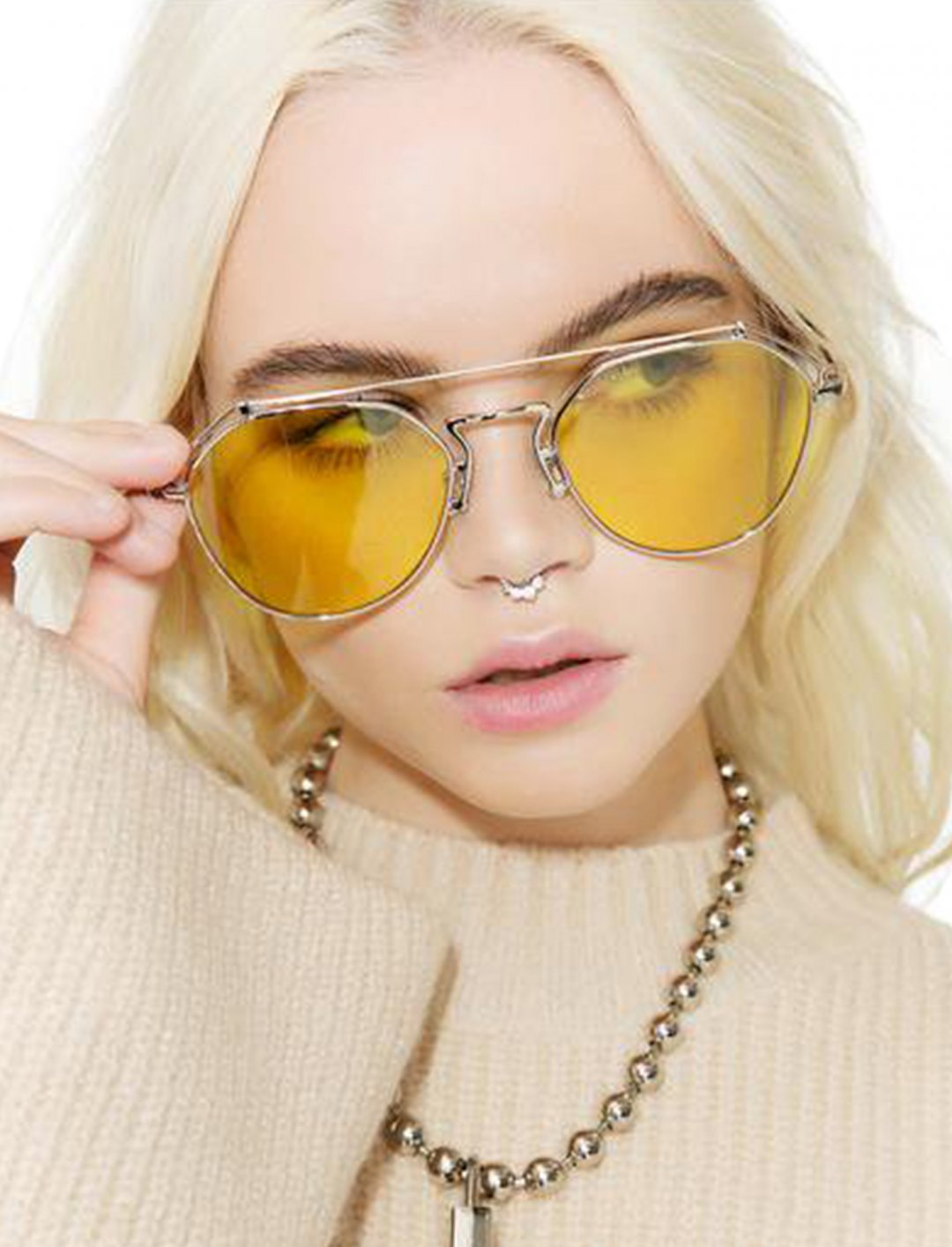 """Stephanie Transparent Aviator {""""id"""":16,""""product_section_id"""":1,""""name"""":""""Accessories"""",""""order"""":15} YHF"""
