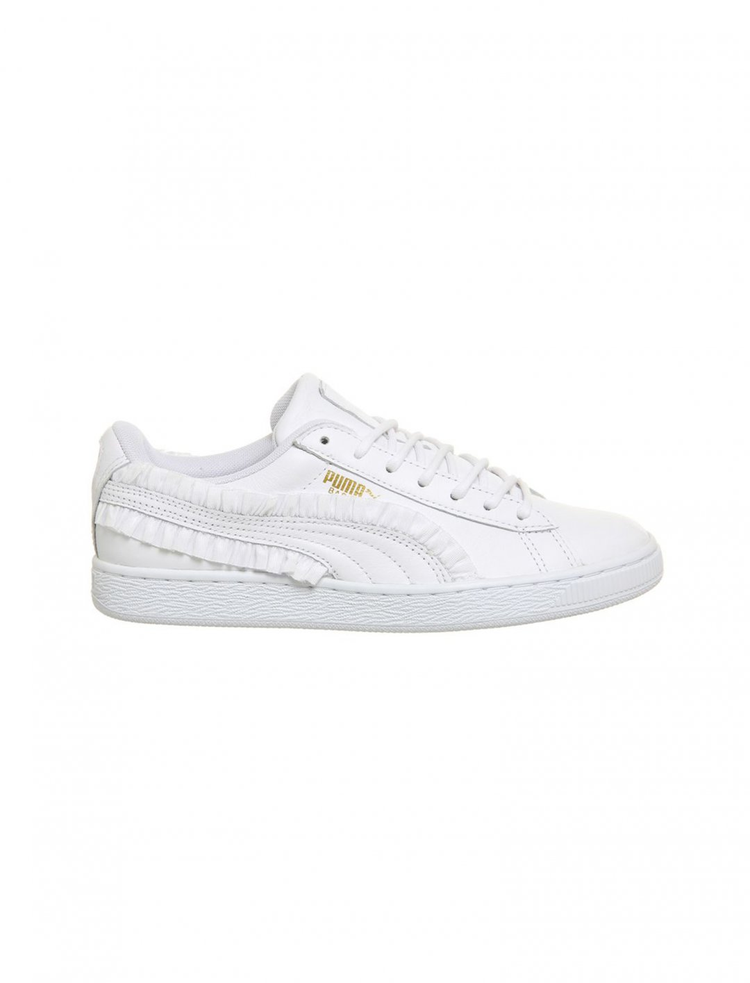 """White Basket Trainers {""""id"""":12,""""product_section_id"""":1,""""name"""":""""Shoes"""",""""order"""":12} Puma"""