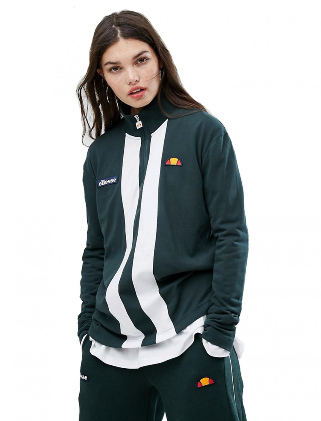"""Sweatshirt With High Half Zip {""""id"""":5,""""product_section_id"""":1,""""name"""":""""Clothing"""",""""order"""":5} Ellesse"""