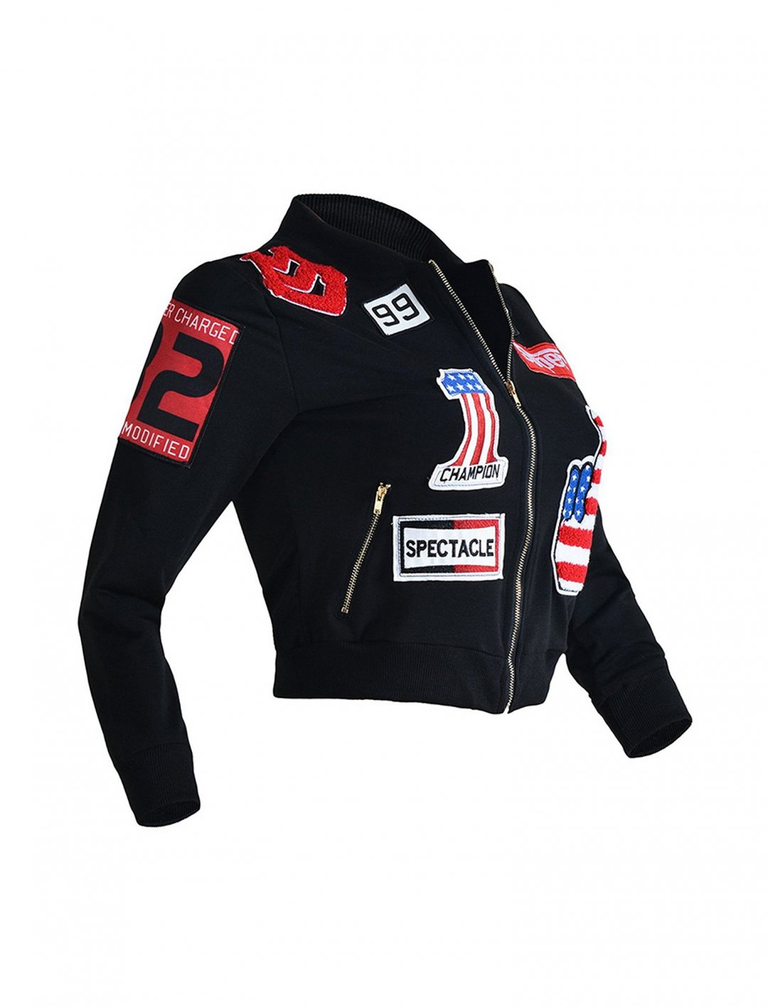 """Patchwork Embroidery Bomber Jacket {""""id"""":5,""""product_section_id"""":1,""""name"""":""""Clothing"""",""""order"""":5} Dihope"""