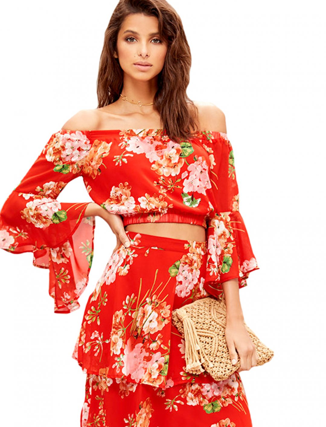 """Red Floral Print Top {""""id"""":5,""""product_section_id"""":1,""""name"""":""""Clothing"""",""""order"""":5} Lulus"""