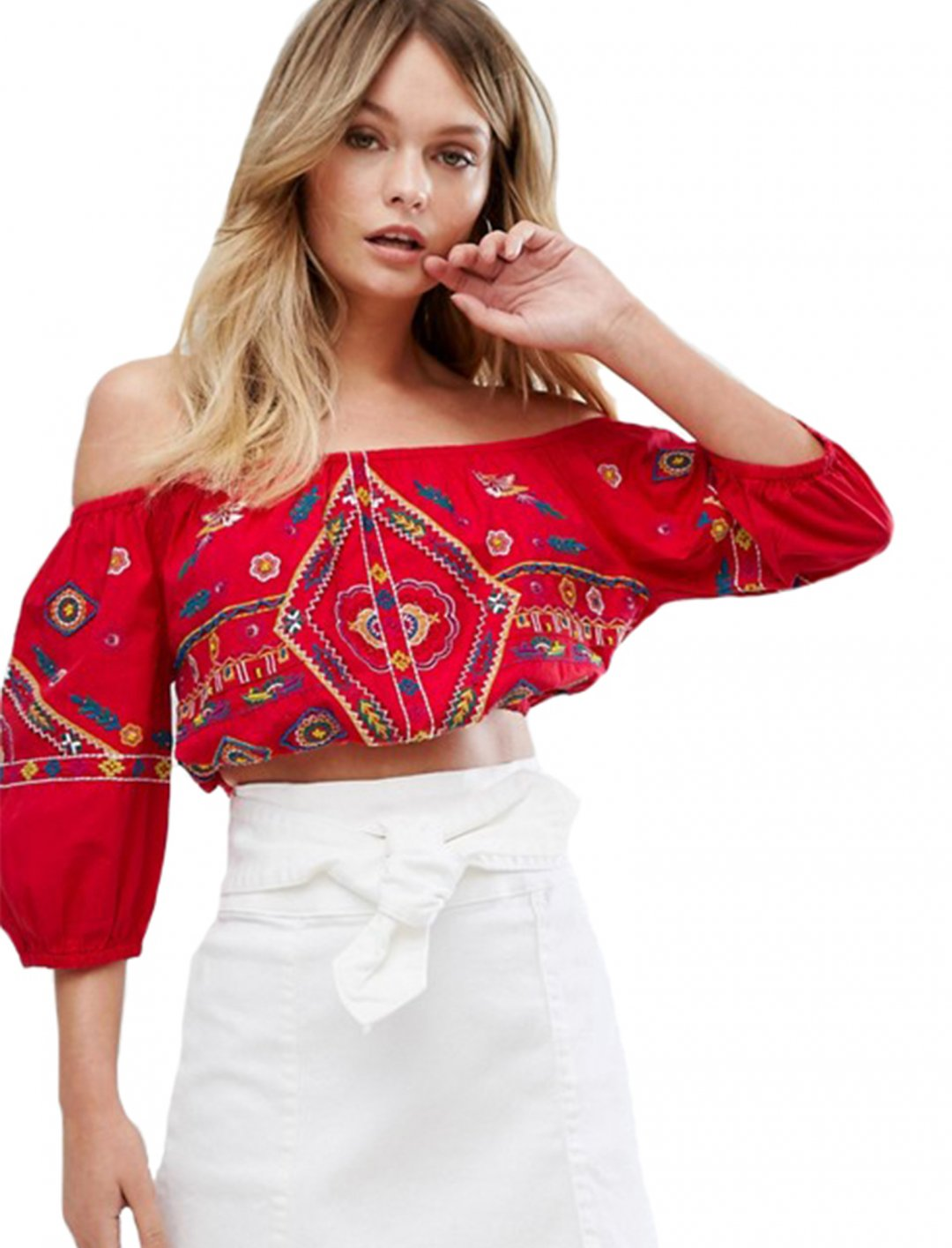 """Embroidered Crop Top {""""id"""":5,""""product_section_id"""":1,""""name"""":""""Clothing"""",""""order"""":5} New Look"""