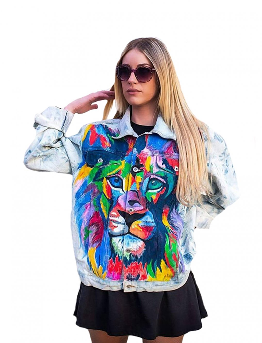 """Hand Painted Denim Jacket {""""id"""":5,""""product_section_id"""":1,""""name"""":""""Clothing"""",""""order"""":5} AiJfashionSERBIA"""