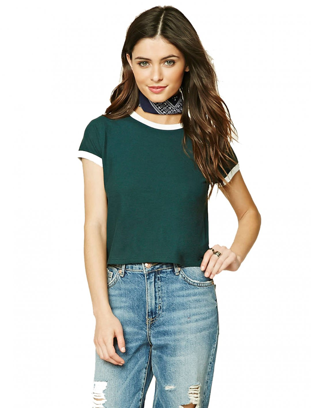 """Classic Ringer Tee {""""id"""":5,""""product_section_id"""":1,""""name"""":""""Clothing"""",""""order"""":5} Forever21"""
