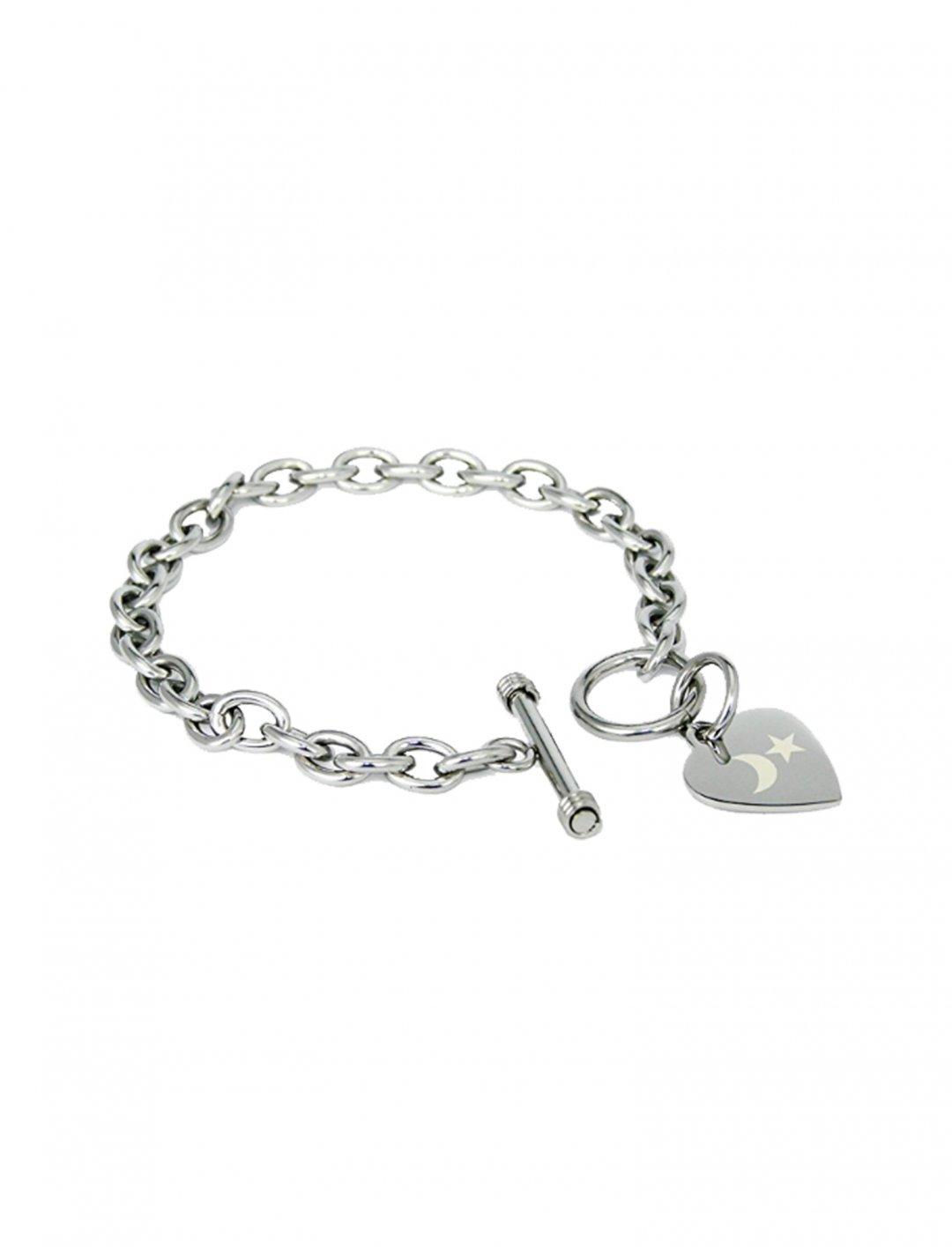 Engraved Heart Tag Bracelet Accessories Roll over image to zoom in      Tioneer