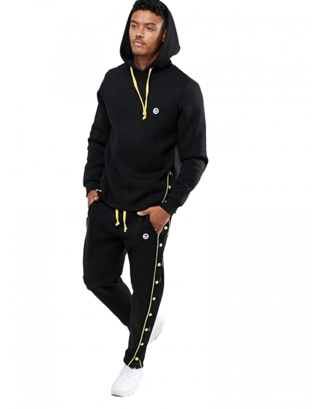 Hoodie With Poppers Clothing Hype