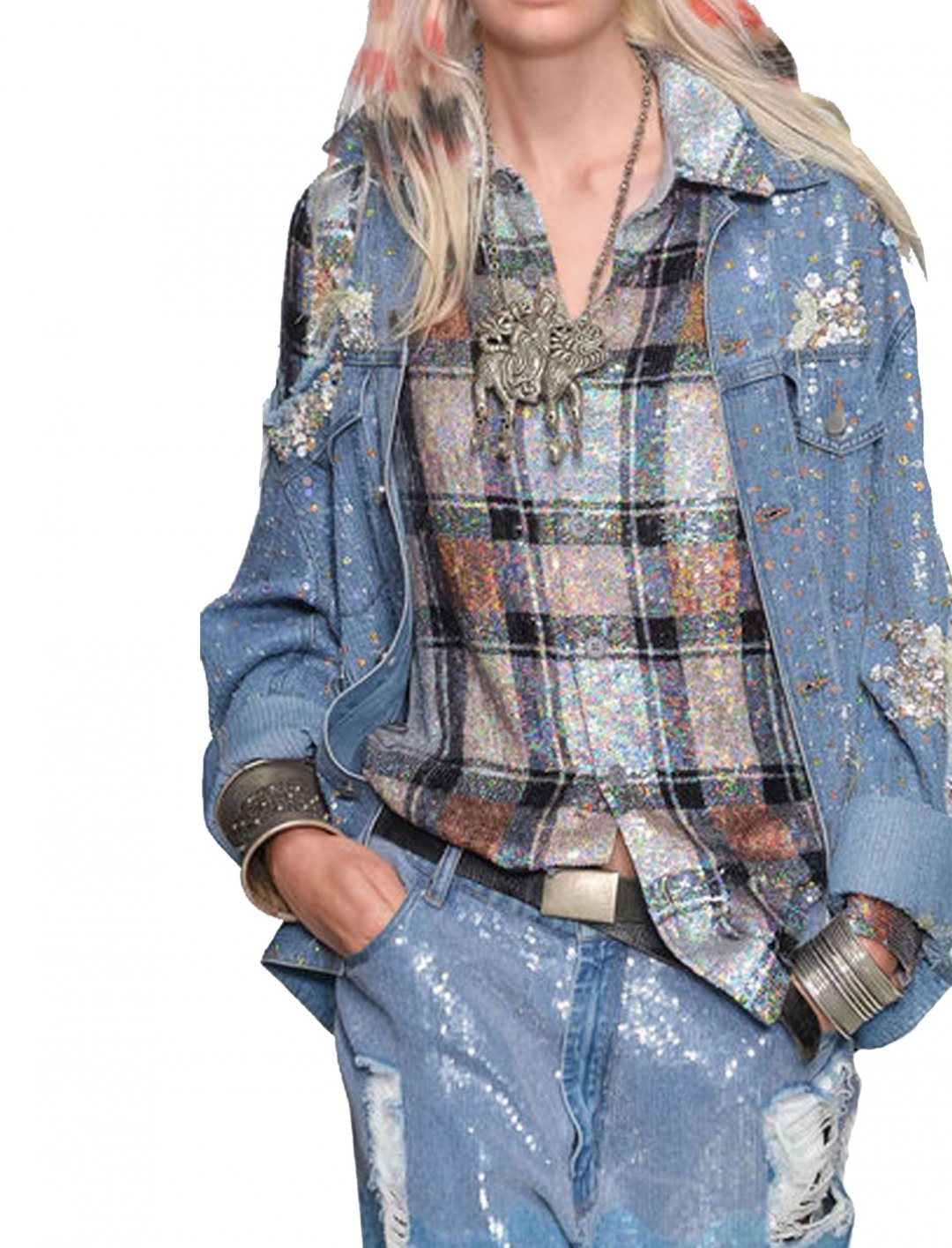 """Olivia's Sequin Plaid Shirt {""""id"""":5,""""product_section_id"""":1,""""name"""":""""Clothing"""",""""order"""":5} Ashish"""